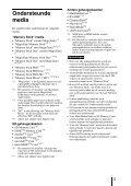 Sony MRW62E-S2 - MRW62E-S2 Istruzioni per l'uso Olandese - Page 5