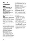 Sony MRW62E-S2 - MRW62E-S2 Istruzioni per l'uso Turco - Page 2