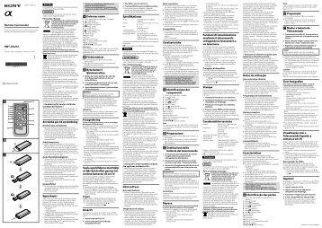 Sony RMT-DSLR2 - RMT-DSLR2 Istruzioni per l'uso Ucraino