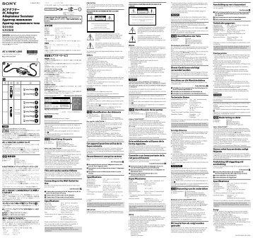 Sony AC-L200 - AC-L200 Istruzioni per l'uso Inglese