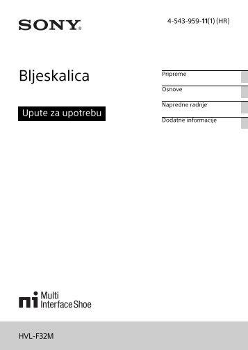Sony HVL-F32M - HVL-F32M Istruzioni per l'uso Croato