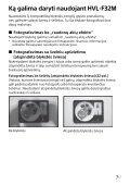 Sony HVL-F32M - HVL-F32M Istruzioni per l'uso Lituano - Page 7