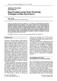 High Precision Isotope Ratio Monitoring Techniques in Mass ...