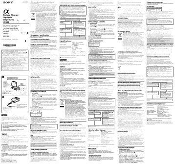 Sony BC-VW1 - BC-VW1 Istruzioni per l'uso Spagnolo