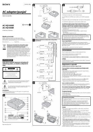 Sony AC-VQ1050B - AC-VQ1050B Istruzioni per l'uso Croato
