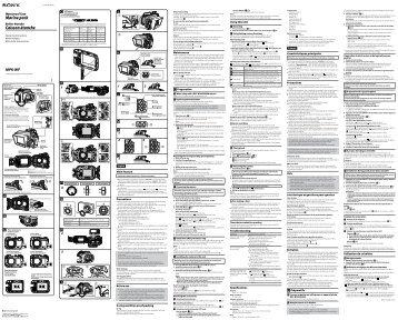 Sony MPK-WF - MPK-WF Istruzioni per l'uso Inglese