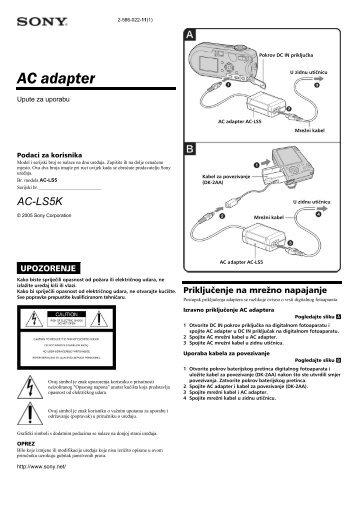 Sony AC-LS5K - AC-LS5K Istruzioni per l'uso Croato