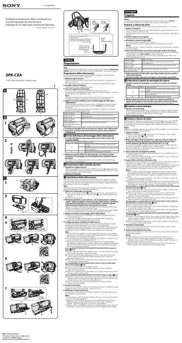 Sony SPK-CXA - SPK-CXA Istruzioni per l'uso Italiano