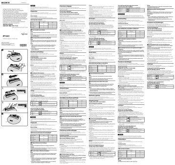 Sony IPT-DS1 - IPT-DS1 Istruzioni per l'uso Inglese