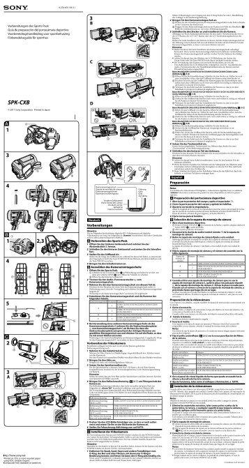 Sony SPK-CXB - SPK-CXB Istruzioni per l'uso Spagnolo