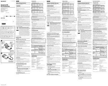Sony ACC-TCV5 - ACC-TCV5 Istruzioni per l'uso Spagnolo