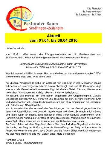 01.04. Donnerstag - Zeilsheim