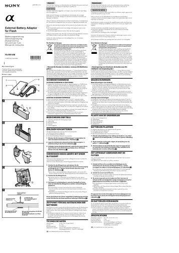 Sony FA-EB1AM - FA-EB1AM Istruzioni per l'uso Tedesco