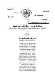 Weihnachtlicher Newsletter - Zeilsheim