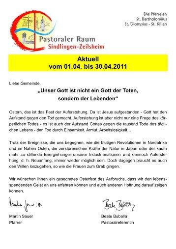 Aktuell vom 01.04. bis 30.04.2011 - Zeilsheim