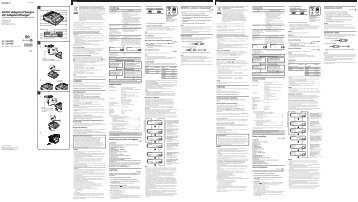 Sony AC-SQ950D - AC-SQ950D Istruzioni per l'uso Finlandese