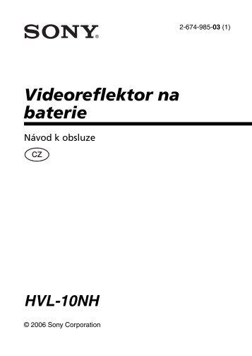 Sony HVL-10NH - HVL-10NH Istruzioni per l'uso Ceco