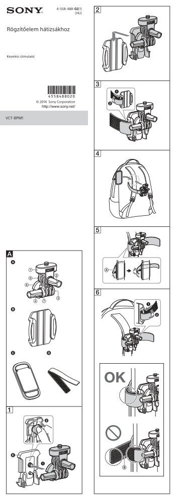 Sony VCT-BPM1 - VCT-BPM1 Istruzioni per l'uso Ungherese