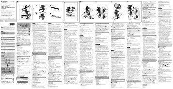 Sony VCT-RBM1 - VCT-RBM1 Istruzioni per l'uso Svedese