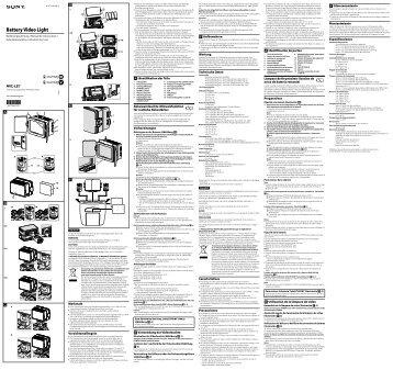 Sony HVL-LE1 - HVL-LE1 Istruzioni per l'uso Olandese