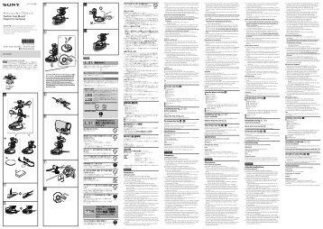 Sony VCT-SCM1 - VCT-SCM1 Istruzioni per l'uso Svedese
