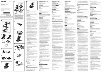 Sony VCT-SCM1 - VCT-SCM1 Istruzioni per l'uso Slovacco