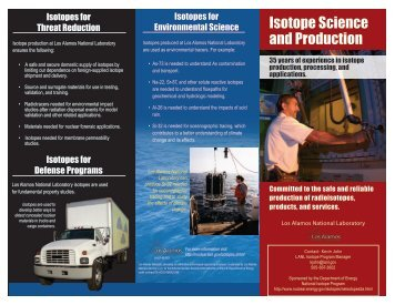 Isotope Science and Production - National Isotope Development ...