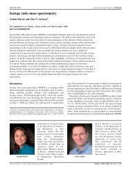 Isotope ratio mass spectrometry - Ohio University