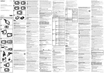 Sony RM-LVR1 - RM-LVR1 Istruzioni per l'uso Inglese