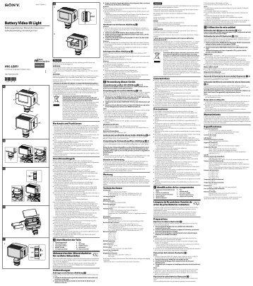 Sony HVL-LEIR1 - HVL-LEIR1 Istruzioni per l'uso Italiano