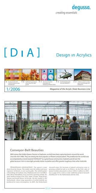 Magazine of the Acrylic Sheet Business Line - plexiglas