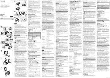 Sony ECM-W1M - ECM-W1M Istruzioni per l'uso Finlandese