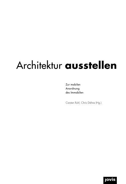 Architektur ausstellen