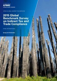 2015 Global Benchmark Survey on Indirect Tax and Trade Compliance