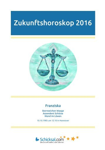 Waage – Zukunftshoroskop 2016
