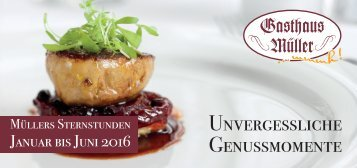 Gasthaus Müller – Unvergessliche Genussmomente