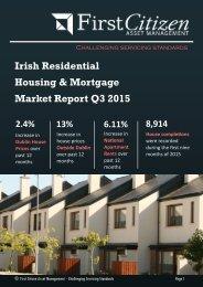 Irish Residential Housing & Mortgage Market Report Q3 2015