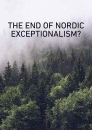 THE END OF NORDIC EXCEPTIONALISM?