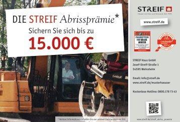 Abrissprämie Streif Haus