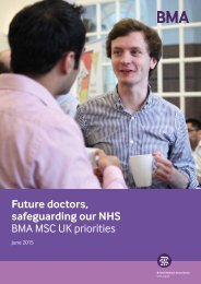 Future doctors safeguarding our NHS BMA MSC UK priorities