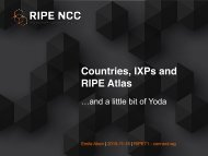 Countries IXPs and RIPE Atlas