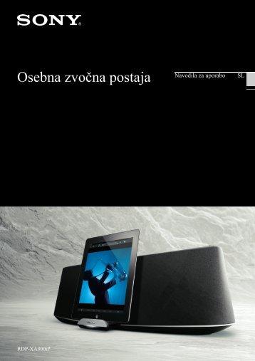 Sony RDP-XA900iP - RDP-XA900IP Istruzioni per l'uso Sloveno