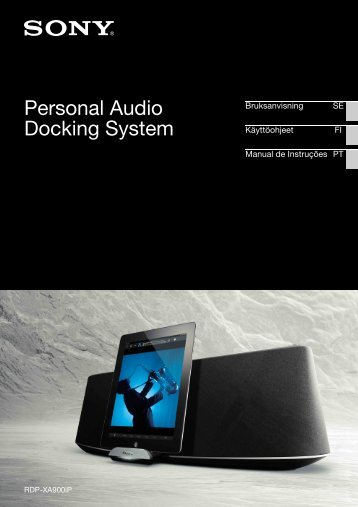Sony RDP-XA900iP - RDP-XA900IP Istruzioni per l'uso Svedese