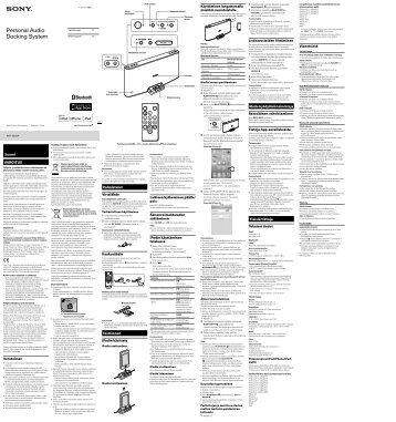 Sony RDP-X200iP - RDP-X200IP Istruzioni per l'uso Svedese