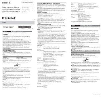 Sony SRS-X55 - SRS-X55 Guida di riferimento Lettone