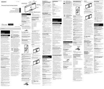Sony RDP-X30iP - RDP-X30IP Istruzioni per l'uso Francese