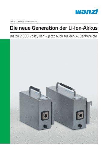 Die neue Generation der Li-lon-Akkus