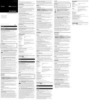 Sony SRS-NWGM30 - SRS-NWGM30 Istruzioni per l'uso Slovacco