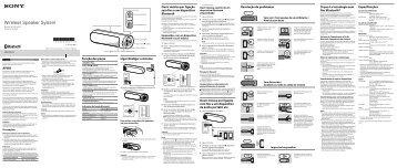 Sony SRS-BTD70 - SRS-BTD70 Istruzioni per l'uso Portoghese