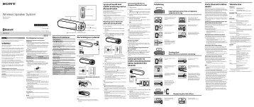 Sony SRS-BTD70 - SRS-BTD70 Istruzioni per l'uso Svedese